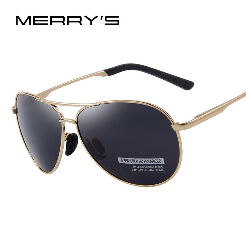 MERRY S uomini di Modo UV400 Occhiali Da Sole Polarizzati Uomini di Guida  Scudo Eyewear Occhiali Da Sole 0b5ca8427b