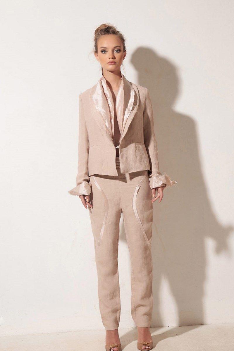 Leinen anzug damen. | Damen anzug | Pinterest | Anzüge, Hochzeit ...