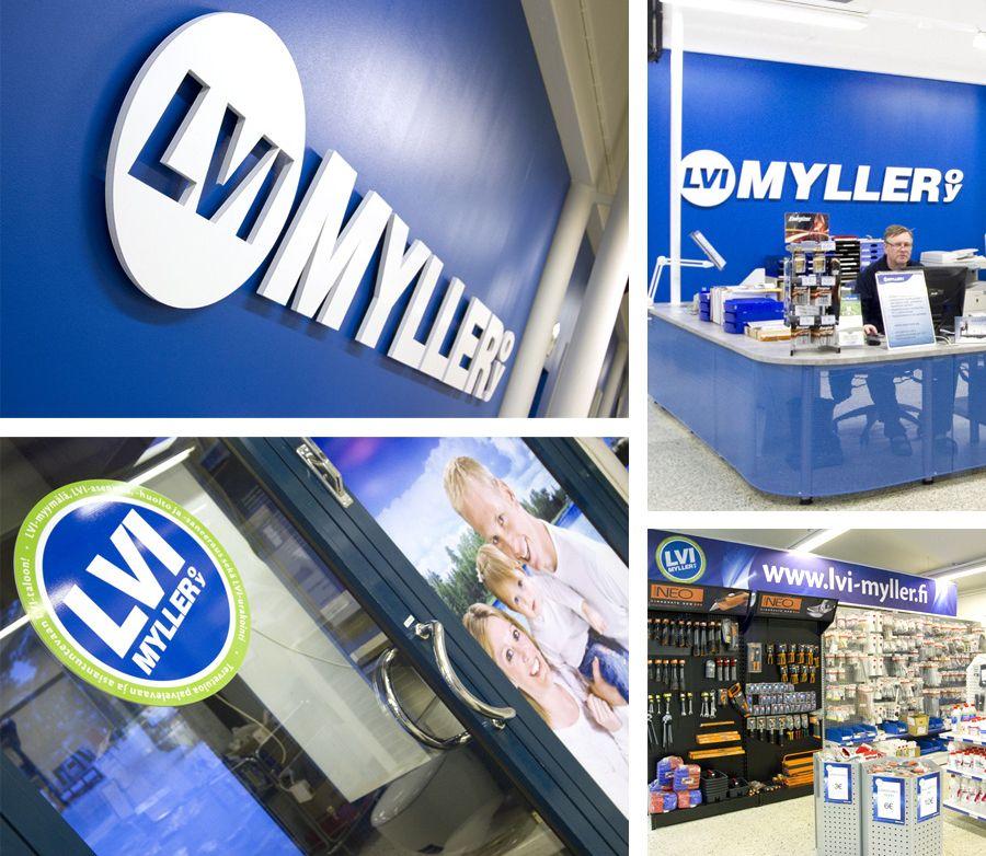 MESSUT JA TILASUUNNITTELU; LVI-Myller -myymälä