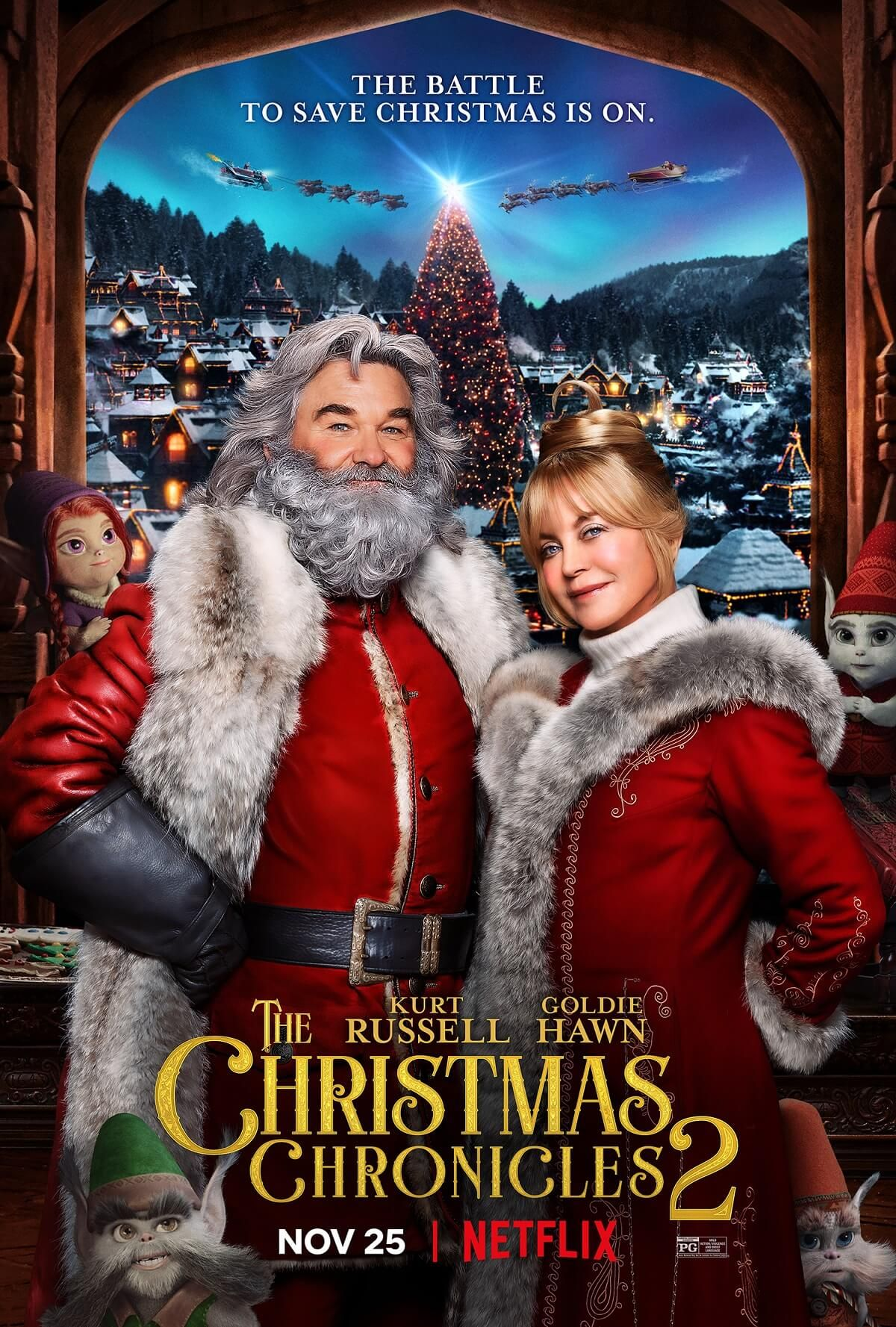 The Christmas Chronicles Part Two Trailer With Kurt Russell Goldie Hawn In 2020 Goldie Hawn New Movies Netflix Movie
