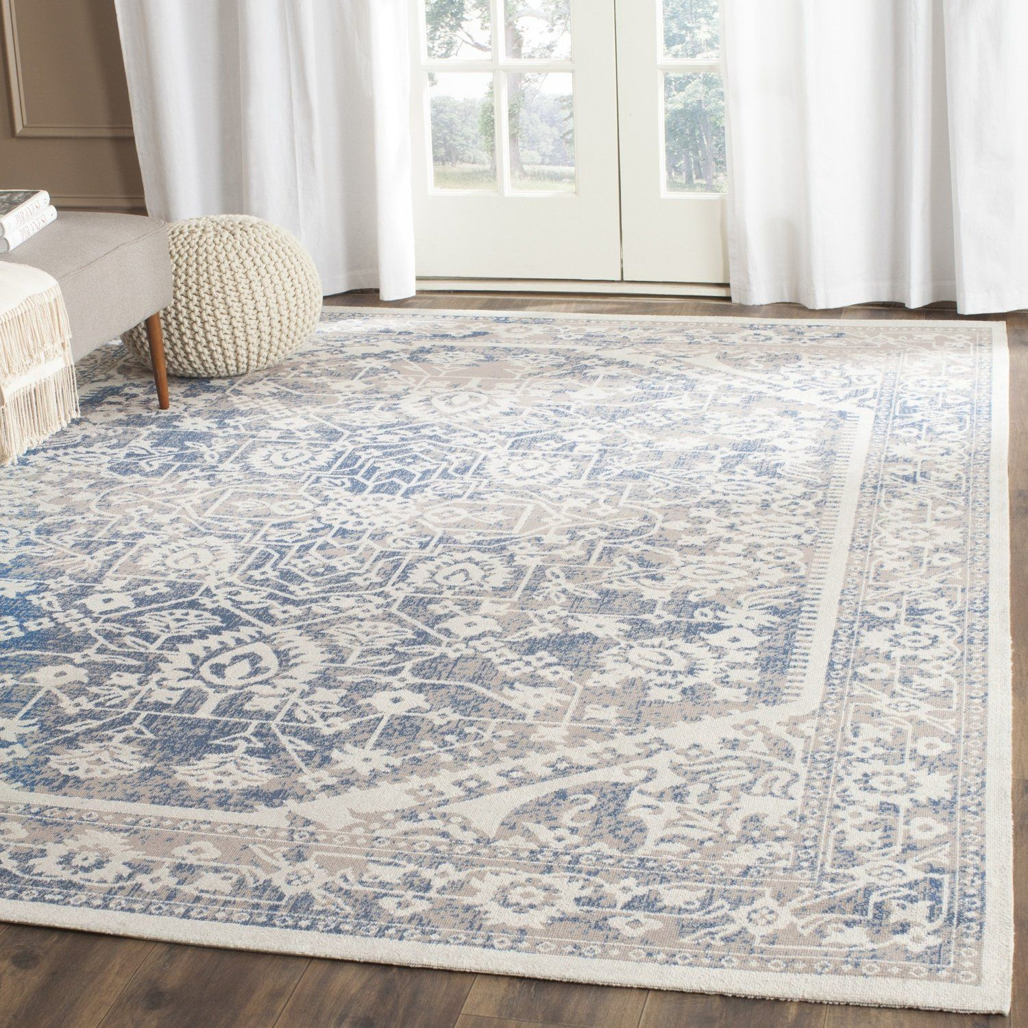 Amazon Safavieh Patina Collection PTN318A Grey And Blue Cotton Area Rug 9