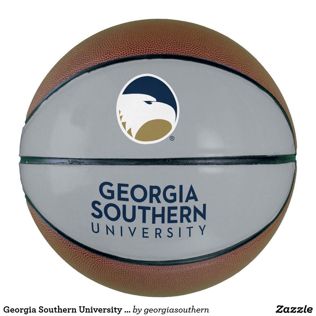 Georgia Southern University Logo Text Basketball Zazzle Com In 2020 Georgia Southern University Georgia Southern University Logo