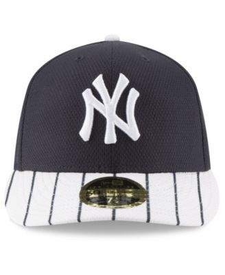 finest selection 9e7c8 34cd6 New Era New York Yankees Batting Practice Diamond Era Low Profile 59FIFTY  Fitted Cap - Navy White 7 1 8