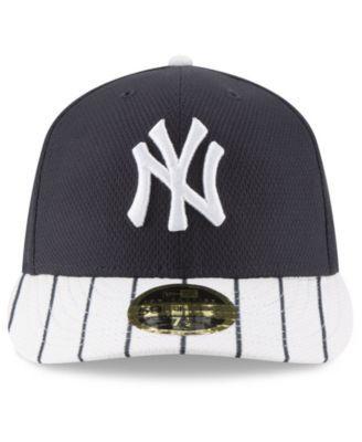 New Era New York Yankees Batting Practice Diamond Era Low Profile 59FIFTY  Fitted Cap - Navy White 7 1 2 11bffcc4288