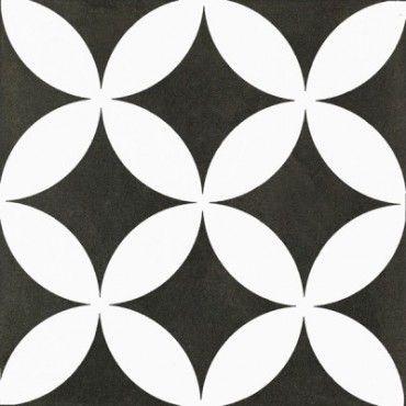 186 M2 Kerion Modulo Neocim Decor Fleur Noir N   20x20