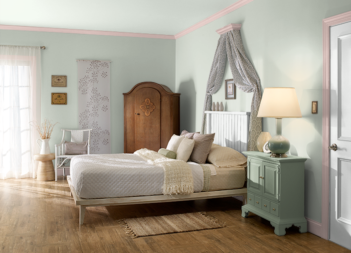 This Is The Project I Created On Behr Com I Used These Colors Flora N390 2 Rosewater S170 2 Roof Top Gard Bedroom Decor Bedroom Paint Colors Bedroom Colors