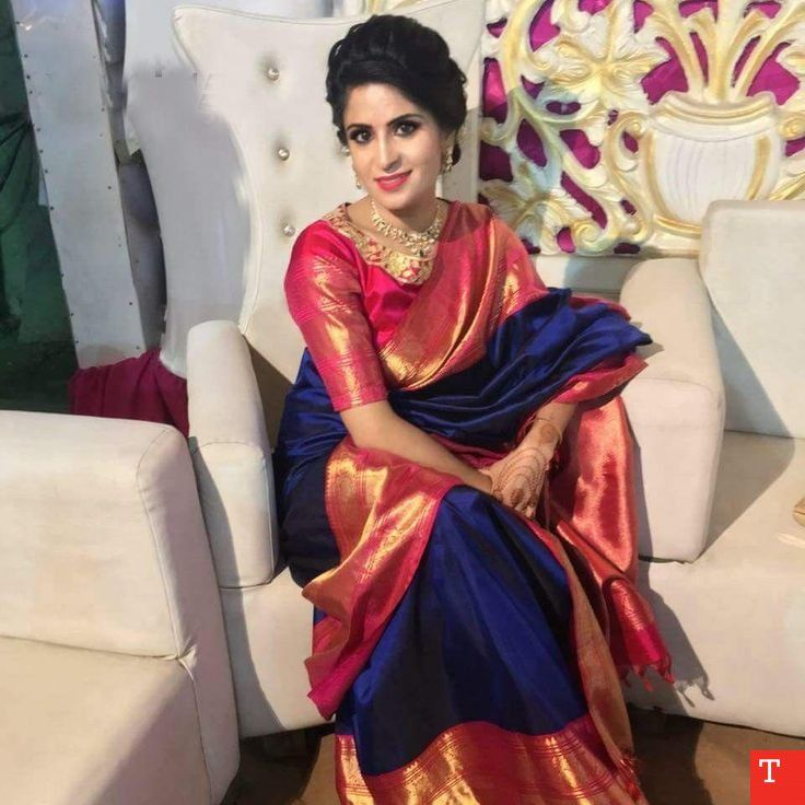 Photo of wedding saree and wedding saree indian #weddingsaree Admireable Navy Blue Color …