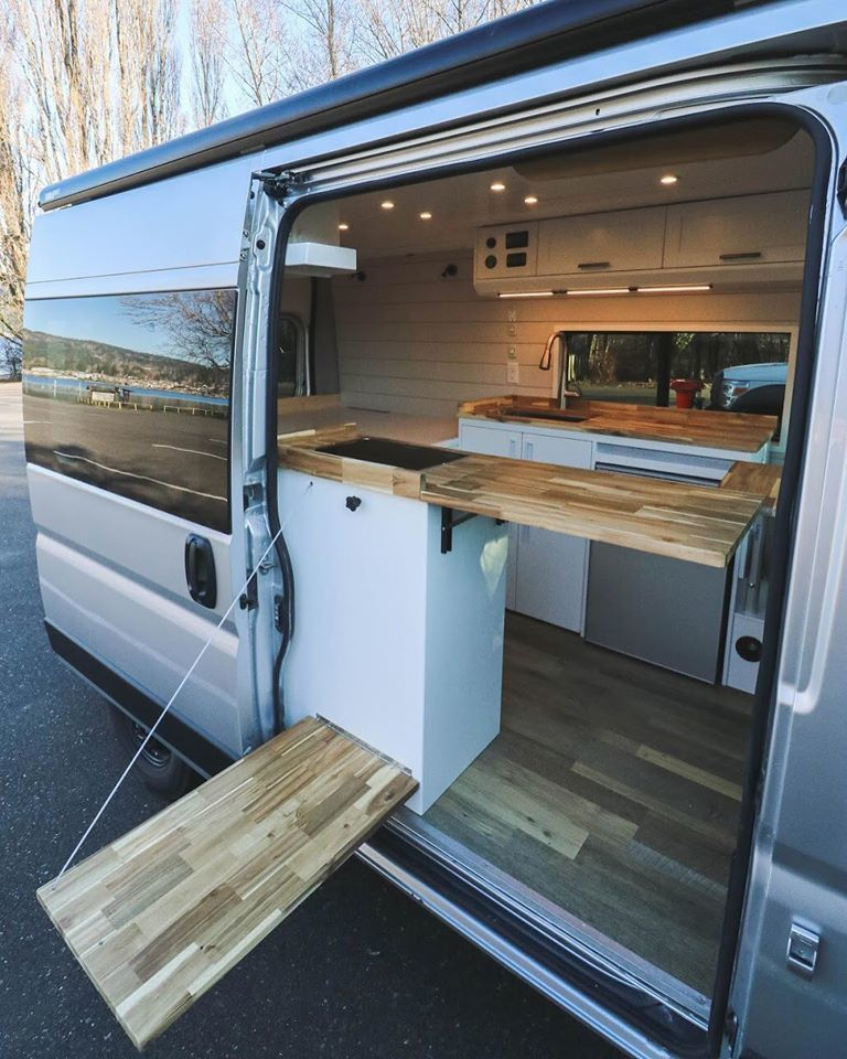 Photo of Chongo solar camper van gives off condo vibes with its large kitchen