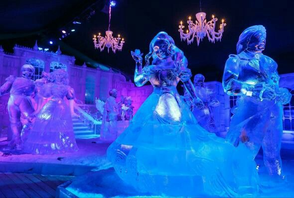 Disney Beauty and the Beast Ice Sculpture