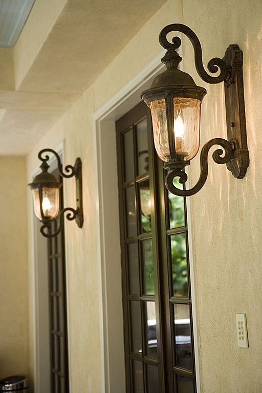 Mediterranean Front Door with Ardmore 19 High Black Outdoor Wall Light & Mediterranean | making a house our home | Pinterest | Lights Porch ...