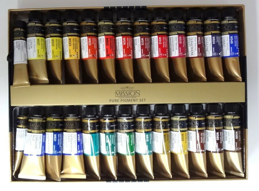 Mission Gold Class 26 Colors Of The Pure Pigment Set Mwc 1524p