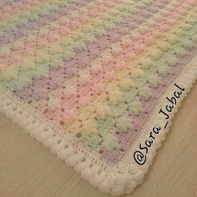 بطانيات الكروشية مع البترونات مفارش كروشية للأطفال طريقة غرزة رجل الغراب درس كروشية بالصور Crochet Blanket Blanket Baby Kids