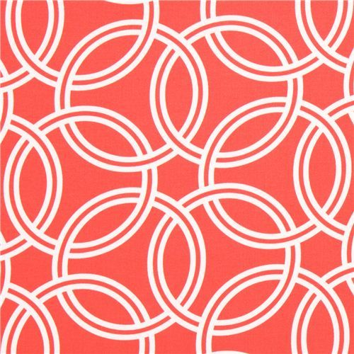 Coral Pattern Fabric coral color pattern cotton sateen fabric michael miller | patterns