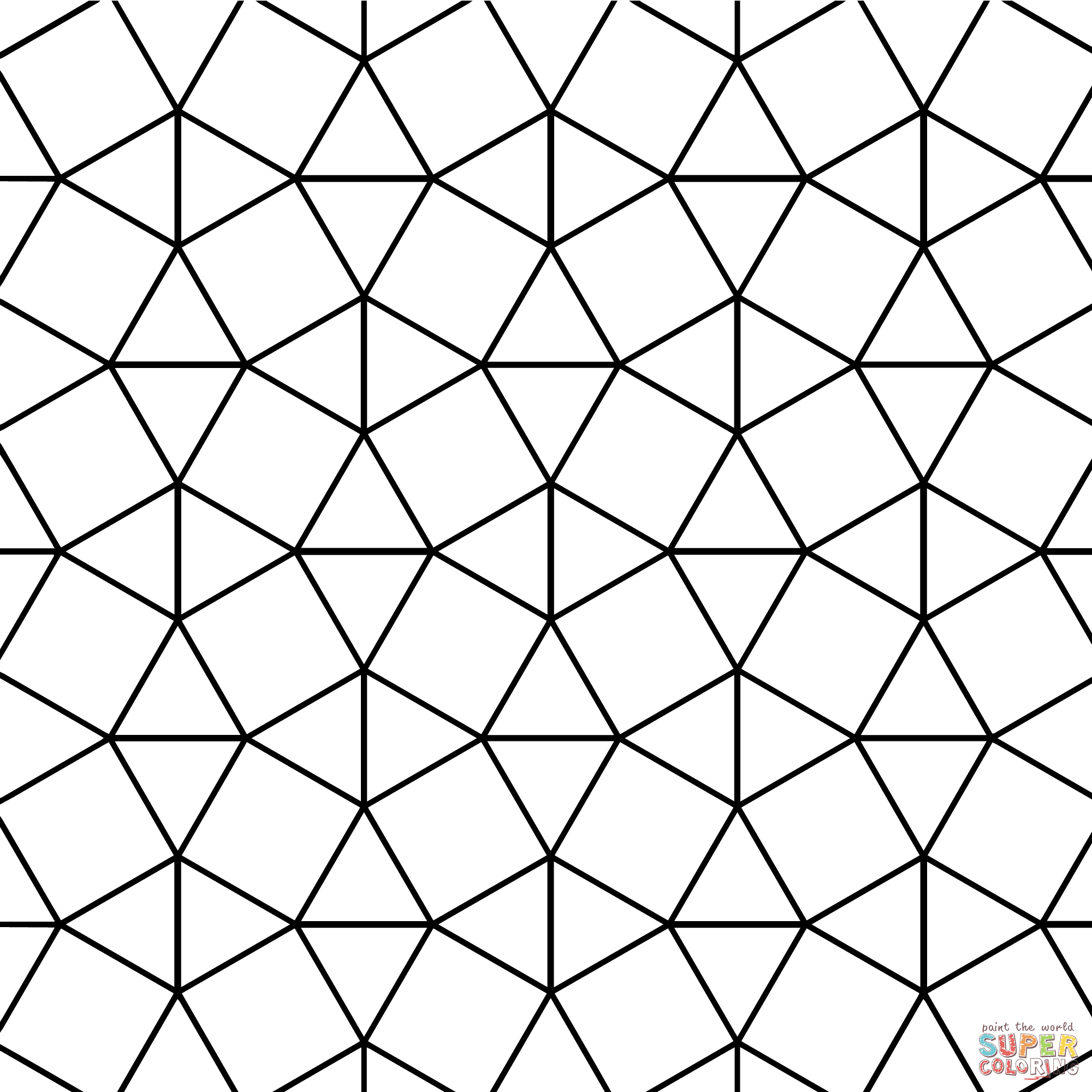 Tessellation with Triangle and Square Tiling | Super Coloring ...