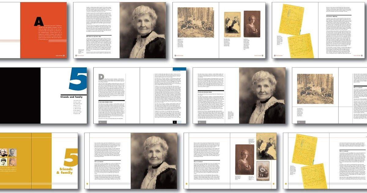 family history book layout idea, Jane Designed This Family History