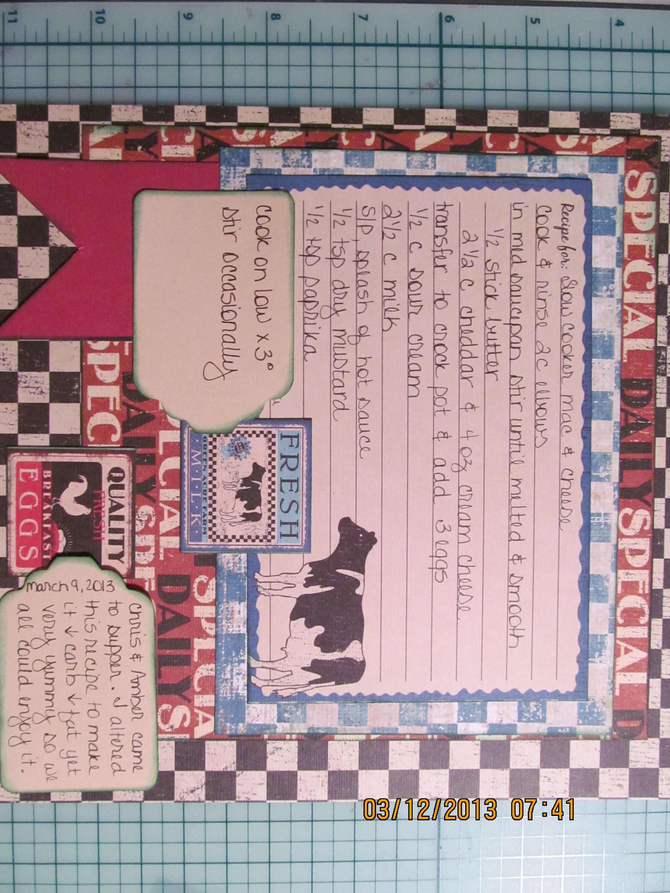 How to scrapbook on a mac - Slow Cooker Mac Cheese Recipe Scrapbook Com This Is Paper From Hobbylobby S Paper
