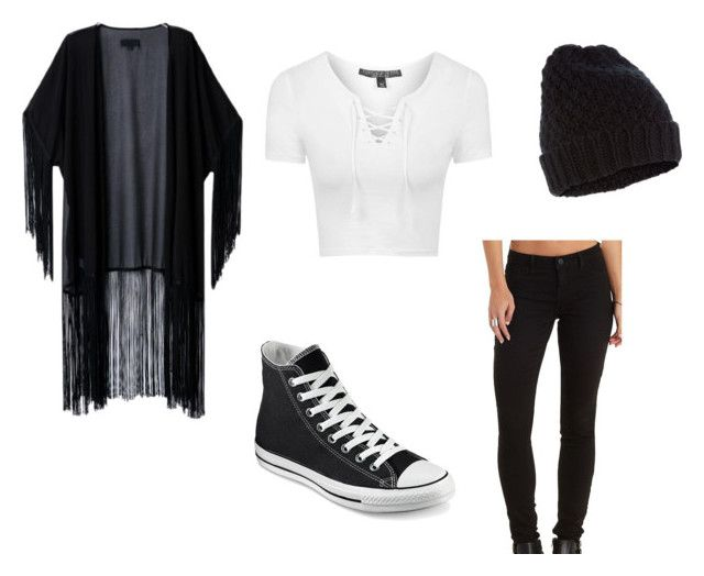 """""""Cute Fall Outfit #7"""" by pumpkinemily ❤ liked on Polyvore featuring Topshop, Charlotte Russe, Converse and Accessorize"""