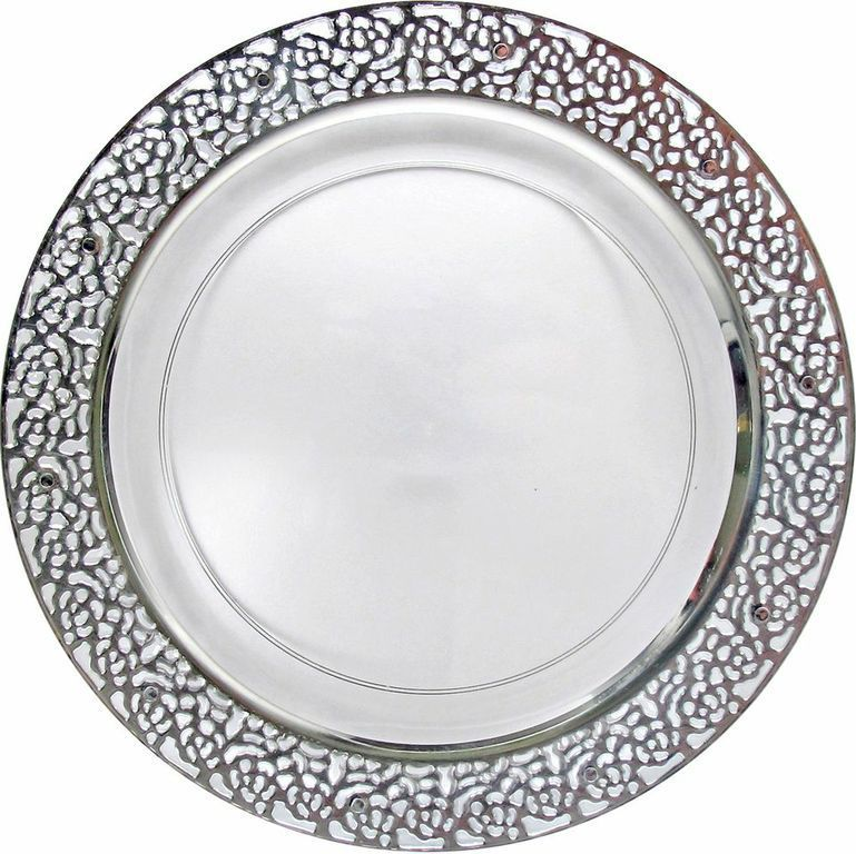 Posh Party Supplies - 10.25\  Inspiration Clear Plastic Dinner Plates with Silver ...  sc 1 st  Pinterest & 10.25\
