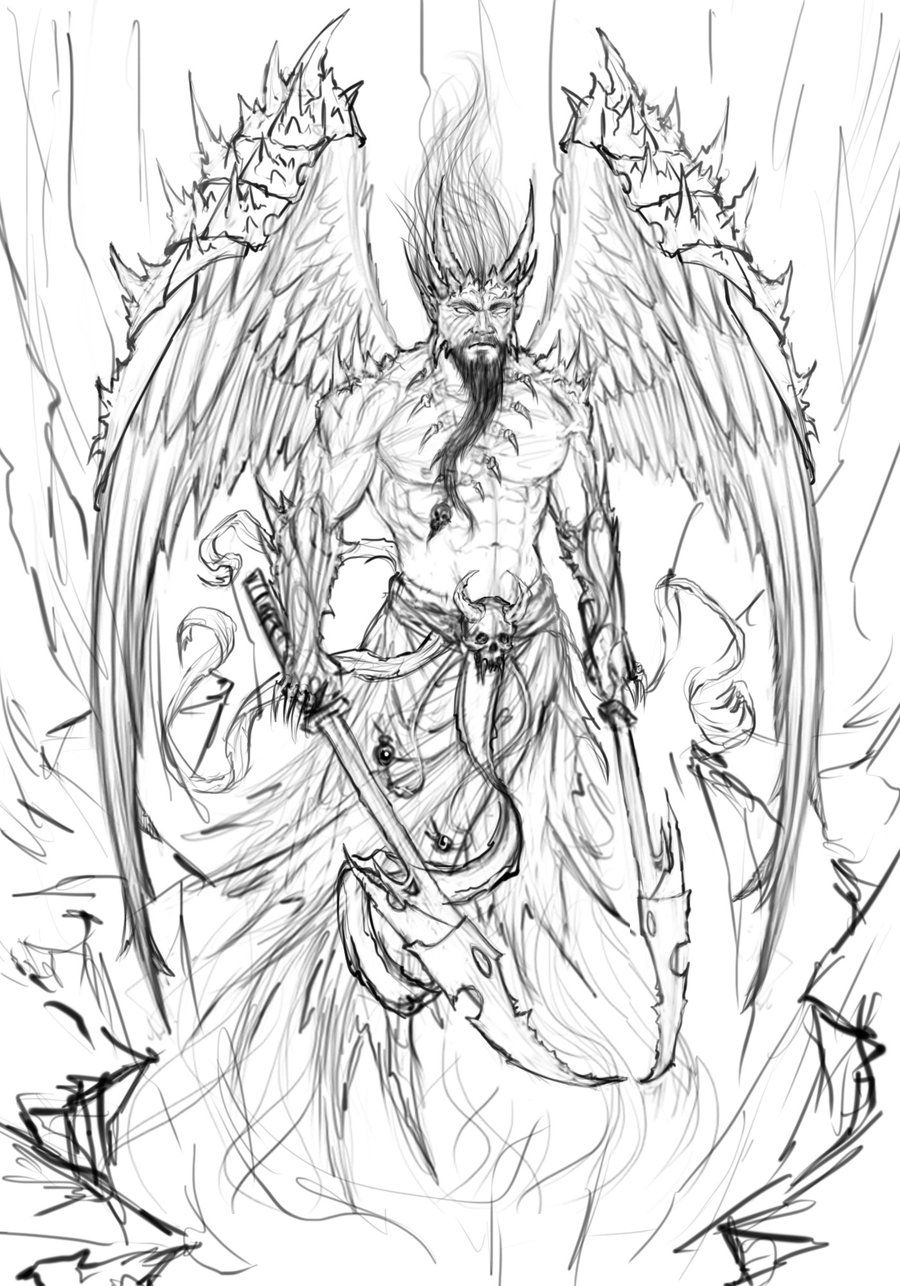 pencil drawings of angels and demons google search fantasy