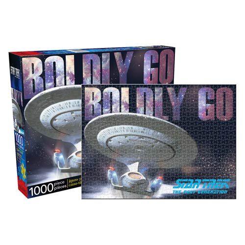 BLOG DOS BRINQUEDOS: Star Trek: The Next Generation 1,000-Piece Puzzle