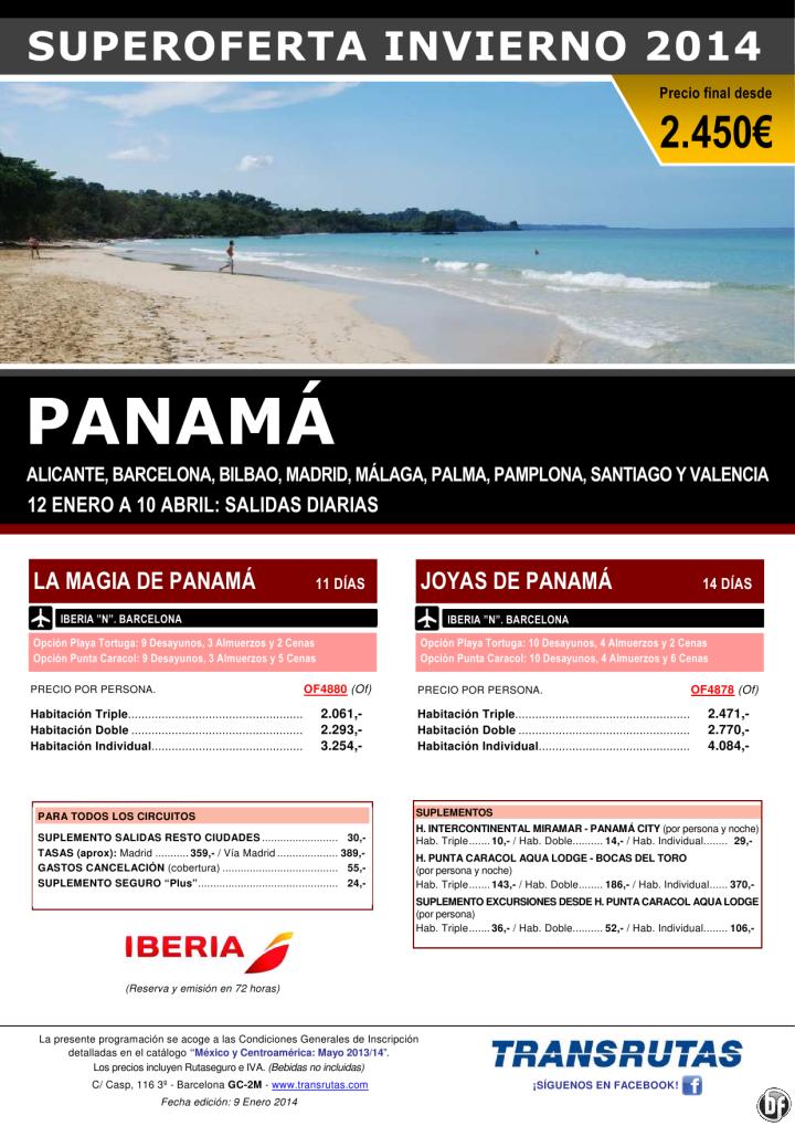 PANAMÁ / 11 y 14 días ¡¡Superoferta Invierno: 12 enero a 10 abril!! precio final desde 2.450€ ultimo minuto - http://zocotours.com/panama-11-y-14-dias-superoferta-invierno-12-enero-a-10-abril-precio-final-desde-2-450e-ultimo-minuto/