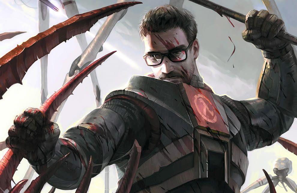 Gordon Freeman Half Life 2 Concept Art Half Life Half