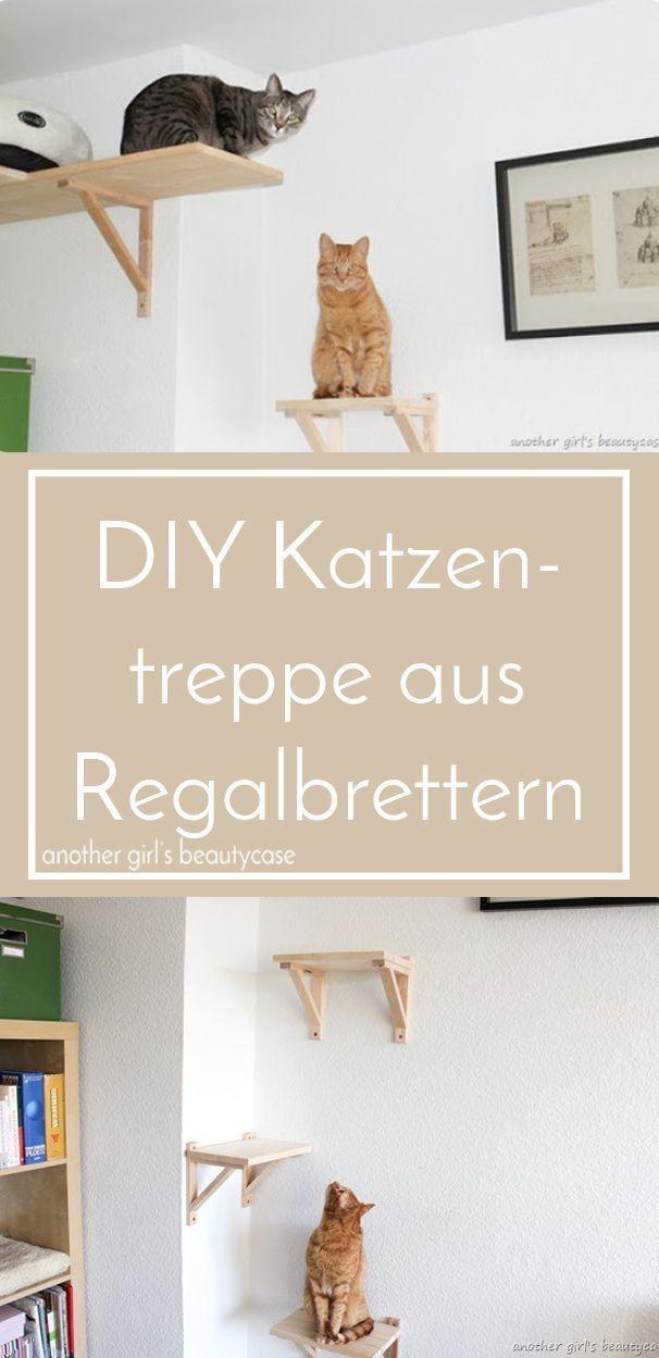 DIY-Katzentreppe aus Regalbrettern selber bauen - another girl's beautycase