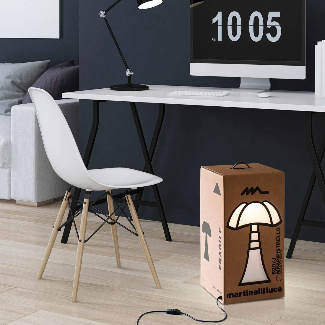 Lampe A Poser Carton Mini Pipistrello H62cm Mini Pipistrello