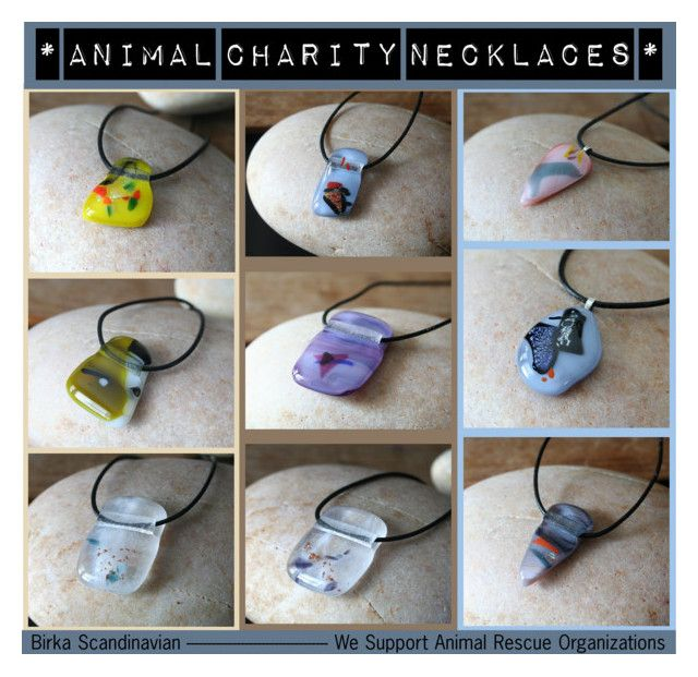 """""""Animal Charity Necklaces"""" by marie-mac ❤ liked on Polyvore"""