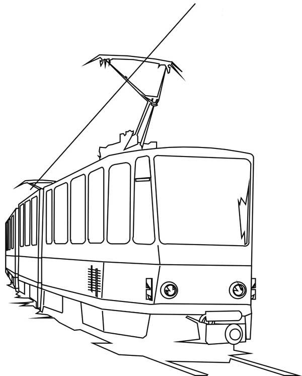 Electric Train Coloring Page : Color Luna di 2020