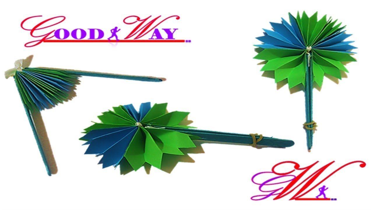 طريقة عمل مروحة بالورق Diy Homemade Paper Hand Fan Hand Art Diy And Crafts Crafts