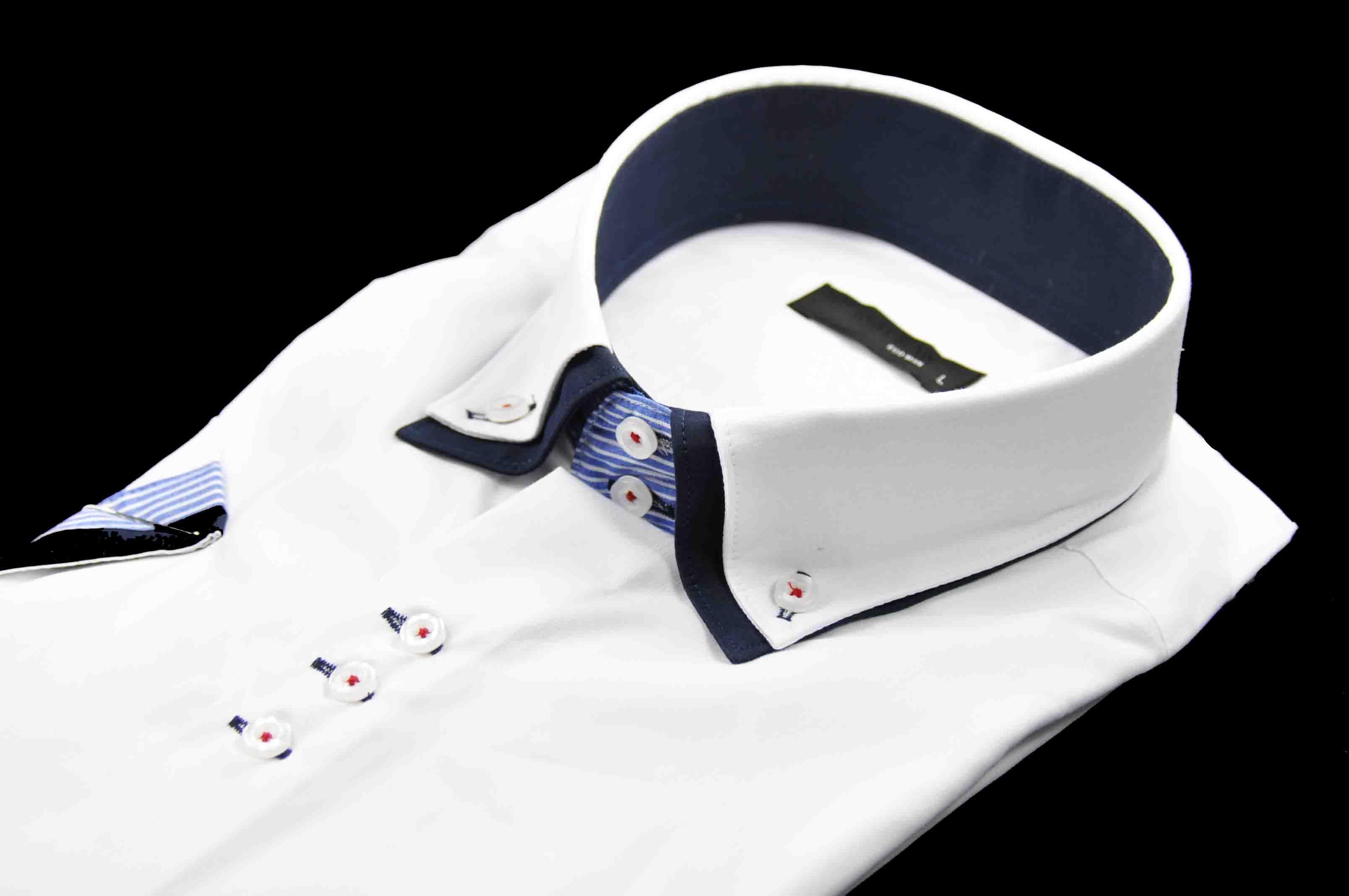 e22cf94bff9a 40017-EM-K-31 Elegantná pánska košeľa EGO MAN - Krátky rukáv