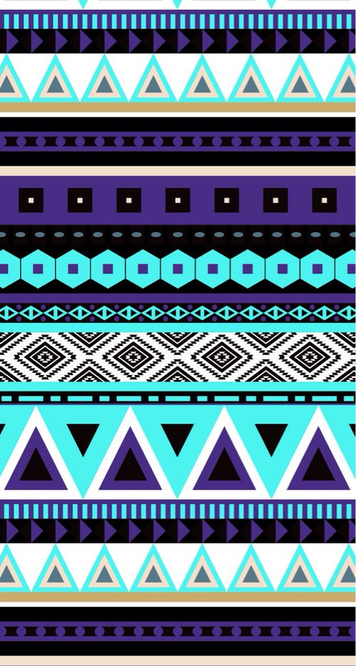 Purple Blue And Wallpaper Image Tribal Pattern
