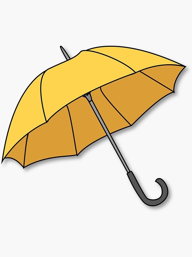 Pegatina Paraguas Amarillo De Benwllace159 Paraguas Amarillo Dibujos Paraguas Paraguas