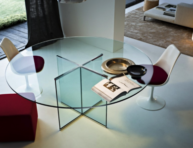 Collection Large Round Glass Tables Uber Interiors Glass Table Dining Table Glass Dining Table