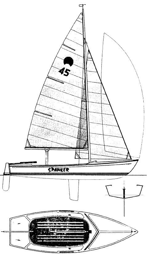 Spanker 19 - Hull Type: Centerboard Dinghy Rig Type: Fractional