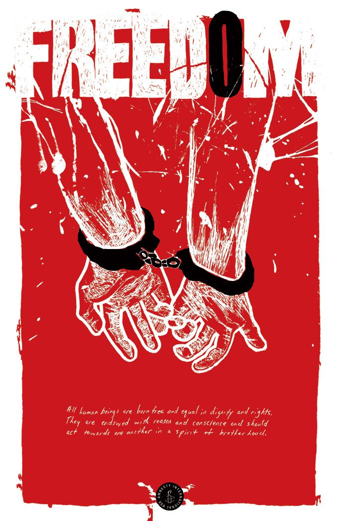 Amnesty International, Freedom Poster | Design / Posters ...