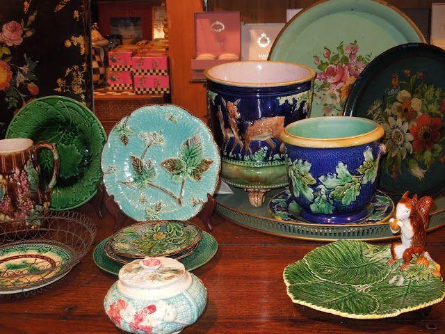 collection of English Majolica