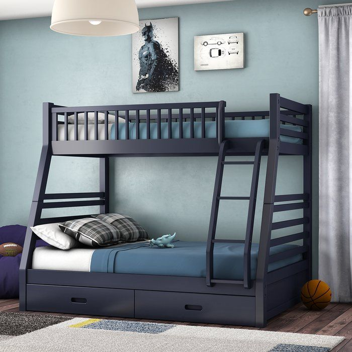 Rafael Twin Over Full Bunk Bed with Drawers Bunk beds