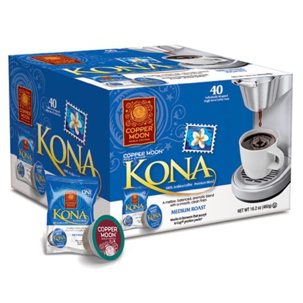 Copper Moon Kona Blend Single Cup Pod, 40 Count for Keurig