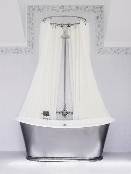 New listing double shower rod curved bar chrome dual curtain liner ...
