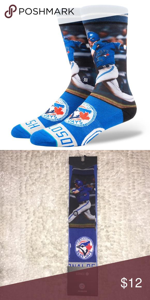 various colors 14747 ece21 NWT Stance Josh Donaldson Blue Jays Socks NWT Stance Josh Donaldson MLB  Blue Jays Socks Size