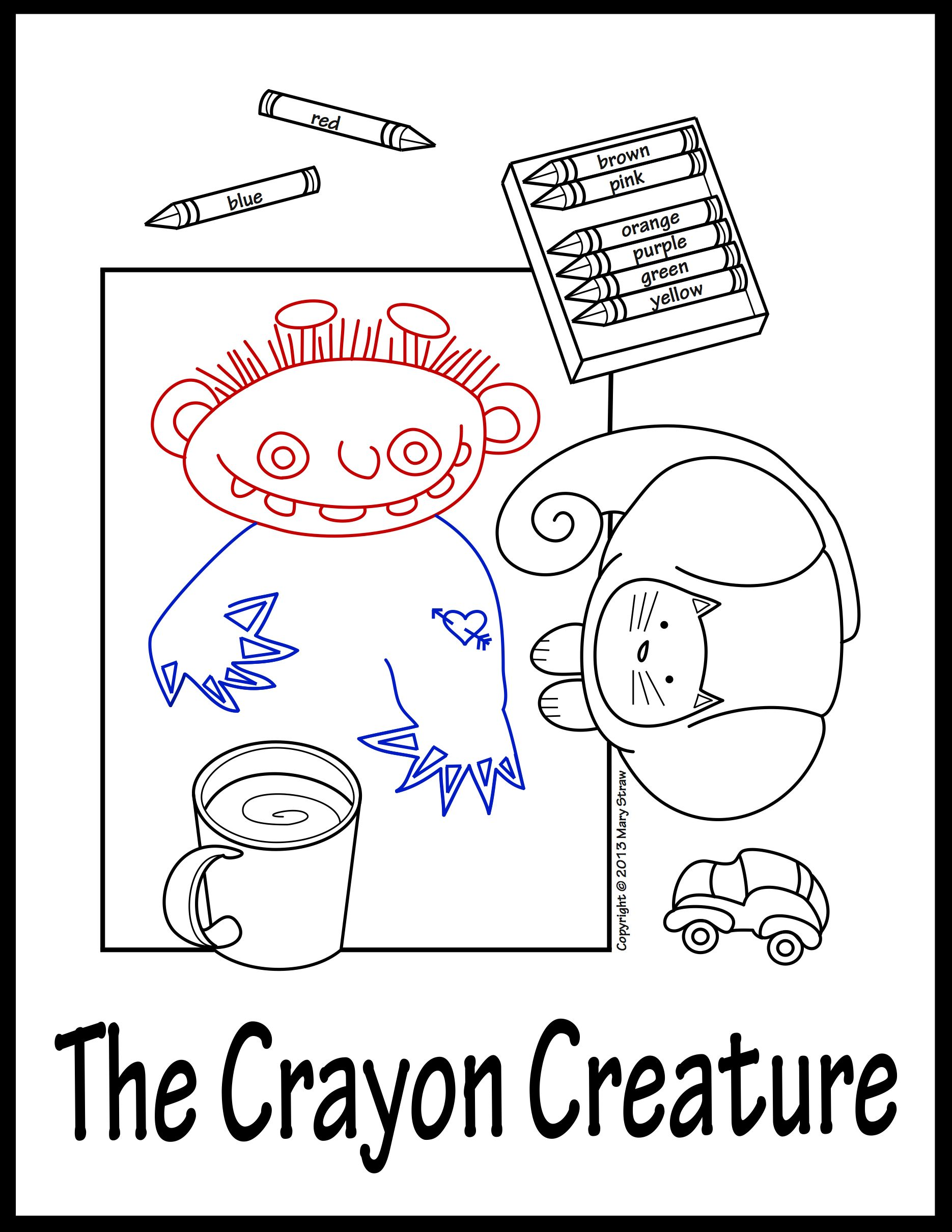 The Crayon Creature A Sequential Story And Worksheet