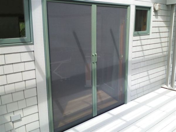 Invisible Hidden Retractable Door Insect Bug Screens Doors