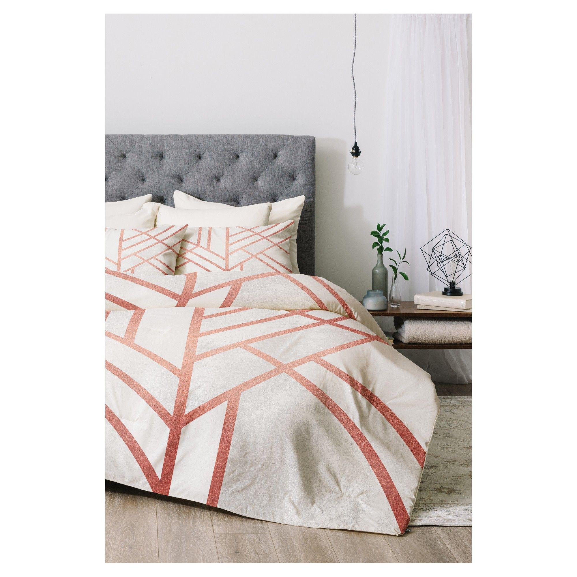 Pink Elisabeth Fredriksson Art Deco Comforter Set (Twin XL