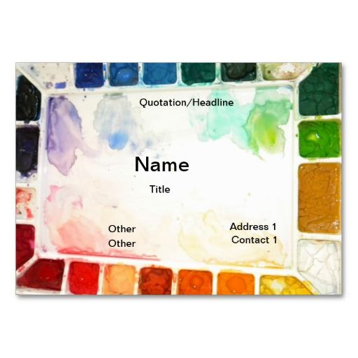 Art Teacher And Painter Cards Zazzle Com Art Business Cards Teacher Business Cards Artist Business Cards