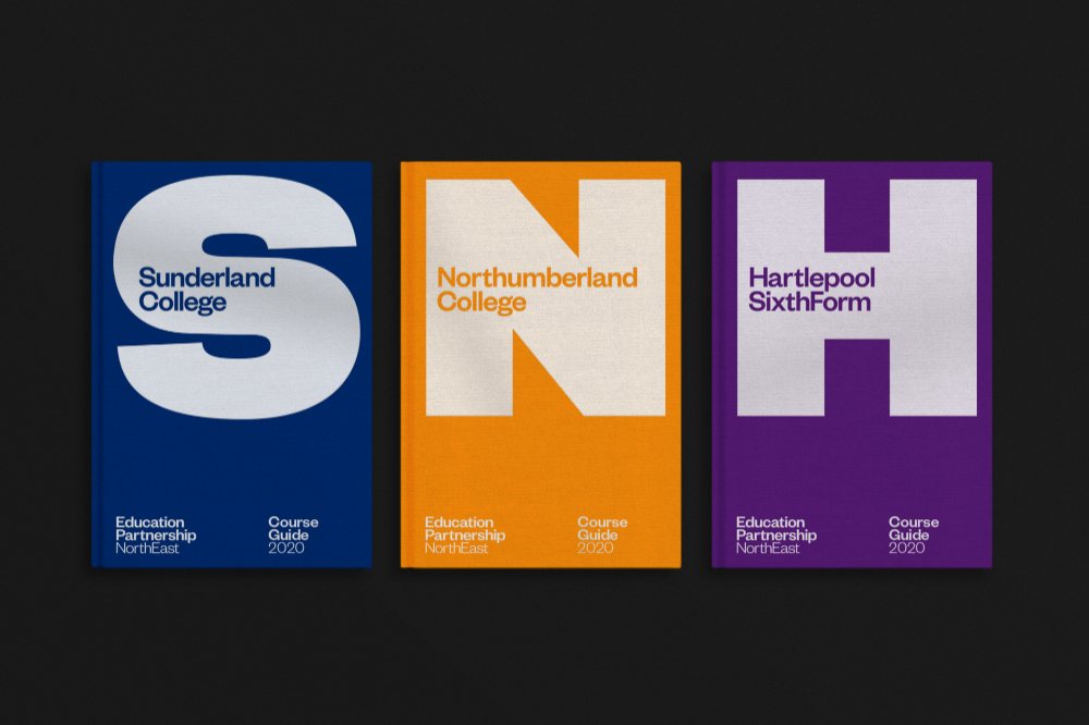 Studio Blackburn Creates A Series Of Ultra Bold Letters For A Merge Of Three Uk Colleges The Brand Identity
