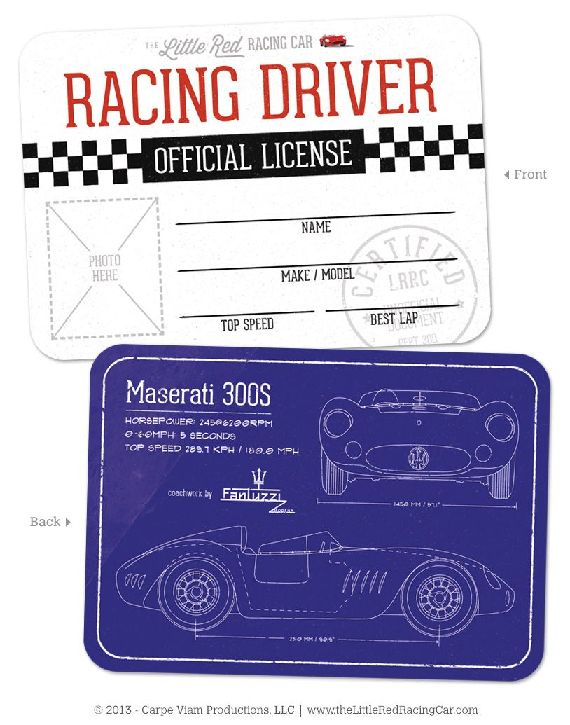 I'm selling The Little Red Racing Car Racing License - $1.00 #onselz