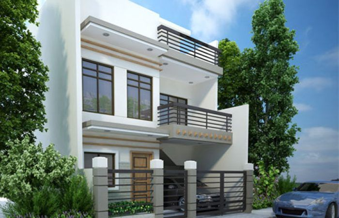 side fire walled modern house roof top deck bathroom laundry also pinoy eplans pinoyeplans on pinterest rh