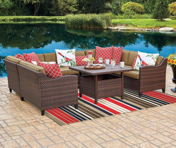 Buy A Wilson U0026 Fisher Sonoma Resin Wicker Modular Patio Seating Collection  At Big Lots For